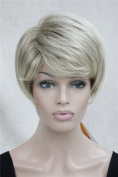 Kalyss Women's Short Curly Wavy High Quality Heat Resistant Glamour Blonde Hair Wig