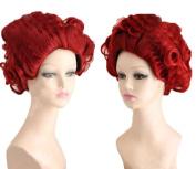 Coslive Alice In Wonderland Film Red Queen Curly Wavy Full Cosplay Wig Halloween
