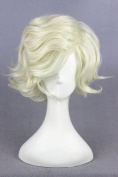 Short Men Boy's Curly Anime Cosplay Wigs Halloween Costume Wig