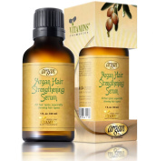 Argan Oil Hair Strengthening Serum - Unique Herbal Oils Complex - Conditions, Repairs & Promotes Healthy Growth & Shine Gloss for All Hair Types