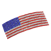 Modern Gems USA American Flag Crystal Hair Barrette Clip