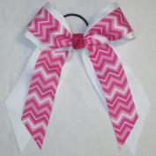 Large Two Layer Bow with Chevron, Made in the USA