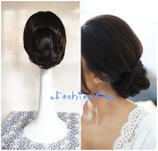 Bridal Braided Clip in Hair Bun Extension Wedding Hair Pieces Chignon Tray Ponytail J-36-2-1
