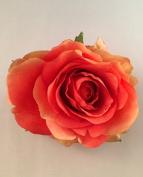 Small Tea Rose Artificial Flower Hair Clip/Pin Brooch