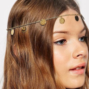 Leiothrix Bohemian Vintage Paillettes Headbands for Women and Girls with Alloy Apply to Weeding Party Casual