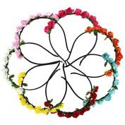Sanwood 7pcs Elegant Lady Rose Floral Headband Bridal Wedding Party Casual Headwear
