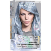Pastel Blue Hair Dye w/Triple Highlights Permanent Hair Colour