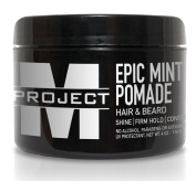 Mint Pomade - Best Hair and Beard formula for Medium Hold, Control, and Shine guaranteed to make your Look EPIC