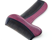 MooKiYi Handmade No Static Violet Comb Pocket Comb Beard and Moustache Comb brush With Massage Function