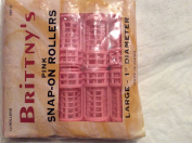Britnys Pink Snap on Rollers Large 2.5cm Diameter