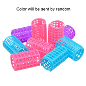 Ckeyin ® 6 Pcs Large Plastic Makeup DIY Hair Protection Salon Styling Roller Curlers Clips Tool for Women Lady 36x68mm