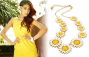 Leiothrix All-match Daisy Necklace for Women and Girls Apply to Weeding Party Casual