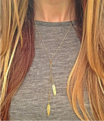 Leiothrix Hot Alloy Necklace with Leaf for Women and Girls Apply to Weeding Party Casual
