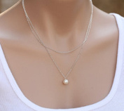 Leiothrix Hot Pearl Silver Alloy Necklace for Women and Girls Apply to Weeding Party Gift Casual