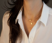 Leiothrix Hot Two-layers Vintage Style Paillette Necklace for Women and Girls Apply to Party Gift Casual Office