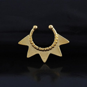Oasis Plus Gold Star Non Piercing Clip On Septum Fake Nose Ring Stud Rings Body Jewellery