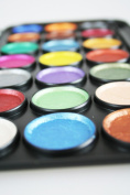 Face Hair and Body Paint - Exciting 21 Metallic Colours and Mini Felt Tip Brushes