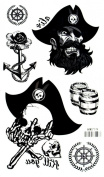 Grashine New design and hot selling skull head,spear,bucket and round totem fake temp tattoo stickers
