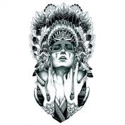 Grashine Halloween Tattoo for men and women Indian girl temporary tattoo stickers