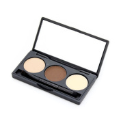 KOLIGHT® 3 Colours Cosmetic Eyebrow Powder Eye Brow Palette Makeup Kit With Brush Mirror