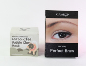 Elizavecca Milky Piggy Bubble Clay Mask & Cameo Cosmetics Perfect Brow- Natural Eyebrows Colour Brush Stencils Skin Care