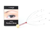 Cameo Cosmetics Perfect Brow- Natural & 1 Head Scalp Massager Brown Eyebrows Colour Brush Stencils Tweezer Brush