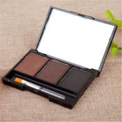Wispun Women Girl Cosmetic Kit Makeup Eyebrow Shading Powder Palette with Brush