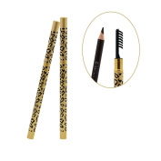 Naimo 5 Colours Leopard Eyeliner Eyebrow Pencil Pen With Brush