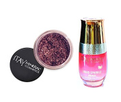 ITAY Minerals Cosmetics Glitter Powder Eye Shadow G-32 Love Pink + Liquid Sparkle Bond