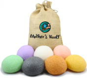 Organic Skin Care Exfoliating Konjac Sponge By Mother's Vault - All Natural Beauty Supply Prevents Breakouts While Exfoliating & Toning for a Better Complexion (1xEach