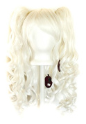 Meiko - Snow White Wig 50cm Long Curly Base + 2 Curly Pig Tails