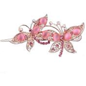Beyend Pink Women's Fashion Butterfly Hair Clip Head Wear BE-24