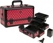 Seya Beauty Pro Aluminium Makeup Train Case w/ Brush Holder
