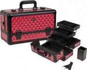 Seya Beauty Pro Aluminium Makeup Train Case w/ Brush Holder