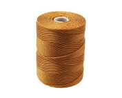 C-LON Fine Weight Bead Cord, Gold - 0.4mm, 136 Yard Spool