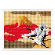 MotoHiroshi skill mini gallery (beadwork kit) Heart full collection red Fuji and crane MG215