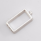 Resin frame empty frame [square two silver Silver] setting resin empty frame