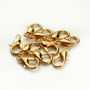 Linsoir Beads F112 Lobster Clasp 100pcs/bag Alloy Lobster Clasp Hooks for necklace chain Jewellery Findings
