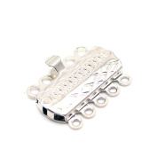 Beautiful Bead 10Pcs Alloy 5 Strands Necklace Necklace Connector Clasp