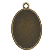 Resin Craft frame Oval antique gold with one RCH-44AG