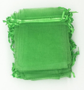100pcs Pale Green Organza Drawstring Pouches Jewellery Party Wedding Favour Gift Bags 4