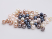 Gauze and workshop about 50 plastic resin Pearl 6mm classic colour 5-colour set metallic celebrity colour beads parts accessories material pearl material