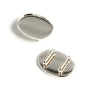 NBK (Nihon Chu Ko) sash clip ellipse 2 pieces KE12-S W2.5 ~ H1.8cm Silver