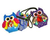 Owl Purse Mini Adorable Patchwork 5Lx6W