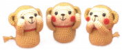 Hamanaka amigurumi kit zodiac mohair of three monkeys H301-495