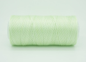 MINT GREEN 0.6mm 100% Nylon Twisted Cord Thread Micro Macrame Beading Knitting Crochet Needle Crafts