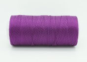 GRAPE PURPLE 0.6mm 100% Nylon Twisted Cord Thread Micro Macrame Beading Knitting Crochet Needle Crafts