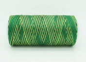 VARIEGATED GARDEN GREEN 0.6mm 100% Nylon Twisted Cord Thread Micro Macrame Beading Knitting Crochet Needle Crafts
