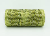 VARIEGATED DRY GREEN 0.6mm 100% Nylon Twisted Cord Thread Micro Macrame Beading Knitting Crochet Needle Crafts