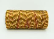VARIEGATED BROWN YELLOW 0.6mm 100% Nylon Twisted Cord Thread Micro Macrame Beading Knitting Crochet Needle Crafts